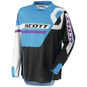 SCOTT JERSEY 450 TRACK BLACK/BLUE