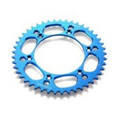 HQV REAR SPROCKET ALU. 42-52 BLUE, HQV 125- 501, 14->, ENDURO/SUPERMOTO 701 16->
