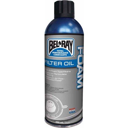 BEL-RAY FOAM FILTER OIL SPRAY, 400 ml