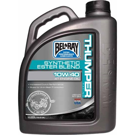 BEL-RAY THUMPER RACING DELSYNTET 10W-40 BEL-RAY THUMPER RACING SYNTHETIC BLEND OIL 4T, 4L