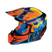 £ Hjälm Fly F2 Carbon Dubstep BL orange/lila