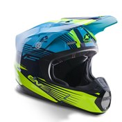 EVS T5 Works Helmet Blue/Hi-Viz Yellow