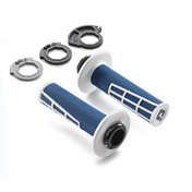 LOCK ON GRIP SET BLUE/WHITE, HQV TC 125/250  17->, FC 16->, TX 125 17->
