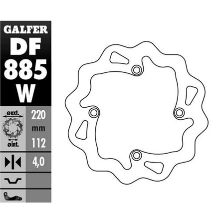 Galfer BAK Wave 220 mm, Sherco 12-13, HQV 00-13