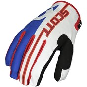 SCOTT GLOVE 350 TRACK JUNIOR BLUE/RED