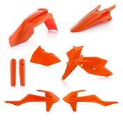 Acerbis Full Plastic Kit Orange, KTM EXC/EXC-F 17->