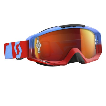 Goggle Tyrant Oxide Red/Blue, Orange Chrome Works