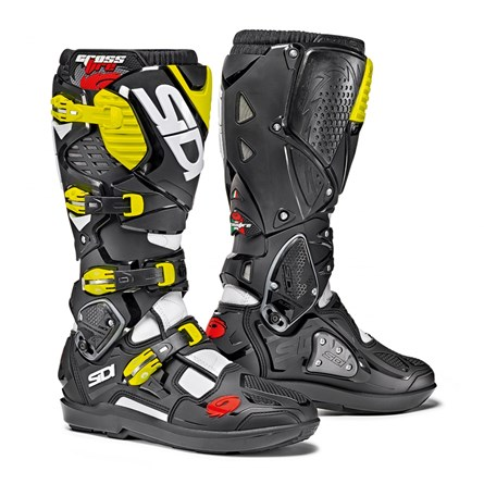 SIDI Crossfire 3 SRS White/Black/Yellow Fluo