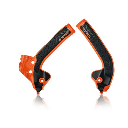 ACERBIS FRAME GUARD X-GRIP ORANGE, KTM SX 65 16->, HQV TC 65 16->