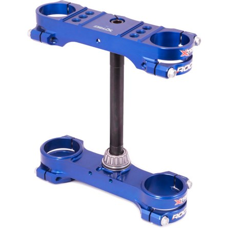 X-Trig ROCS Triple Clamp Kit Blue 14 mm Off Set, KTM SX 85 13-19, TC 85 14-19