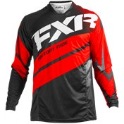 FXR Mission MX Jersey 18-Black/Red/White