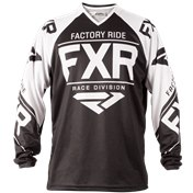 FXR Clutch Retro MX Jersey 18-Black/White