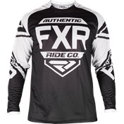 FXR CLUTCH RETRO MX JERSEY BLACK/WHITE, L