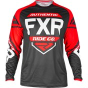FXR CLUTCH RETRO MX JERSEY BLACK/RED