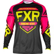 FXR CLUTCH RETRO MX JERSEY BLACK/FUCHSIA