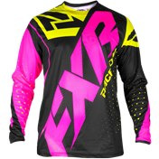 FXR YOUT CLUTCH PRIME MX JERSEY BLACK/PINK