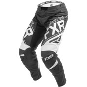 FXR YOUTH CLUTCH RETRO MX PANT BLACK/WHITE