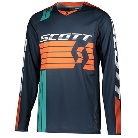 £ SCOTT JERSEY 450 PODIUM BLUE/ORANGE