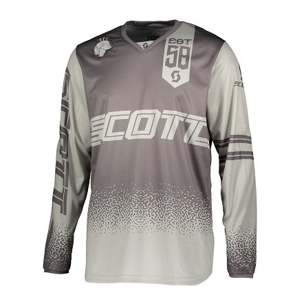 £ SCOTT JERSEY 350 RACE GREY