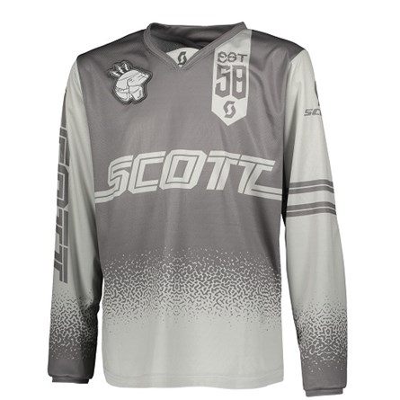 £ SCOTT JERSEY 350 RACE KIDS GREY