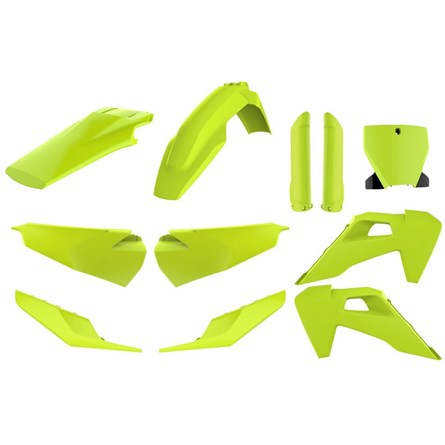 Polisport Plastic Kit Flo/Yellow, HQV TC/FC 125-450 19->