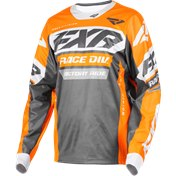 FXR COLD CROSS Jersey Charcoal/Orange M