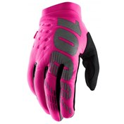 100% Brisker Cold Weather Women Glove, Neon Pink/Black