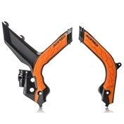 ACERBIS FRAME GUARD X-GRIP BLACK/ORANGE, KTM SX/SX-F 125-450 19-21
