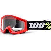 100% Youth Strata Mini Red, Clear Lens