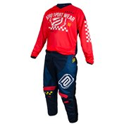 ASW Kids Pants NAVY BLUE/RED
