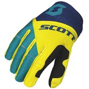SCOTT GLOVE 450 ANGLED BLUE/YELLOW