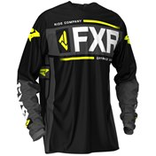 FXR Clutch Off-Road Jersey Black/Char/HiVis/Lt Grey 2020