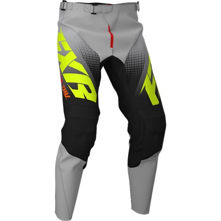 FXR Youth Clutch MX Pant Black/Grey Fade/Hi Vis/Red 2020