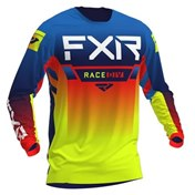 FXR Youth Pro-Stretch MX Jersey Blue/Hi Vis/Red