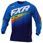 FXR Youth Clutch MX Jersey White/Navy/Yellow