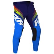 FXR Youth Clutch MX Pant White/Navy/Yellow
