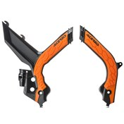 ACERBIS FRAME GUARD X-GRIP BLACK/ORANGE, KTM EXC/EXC-F 20-21